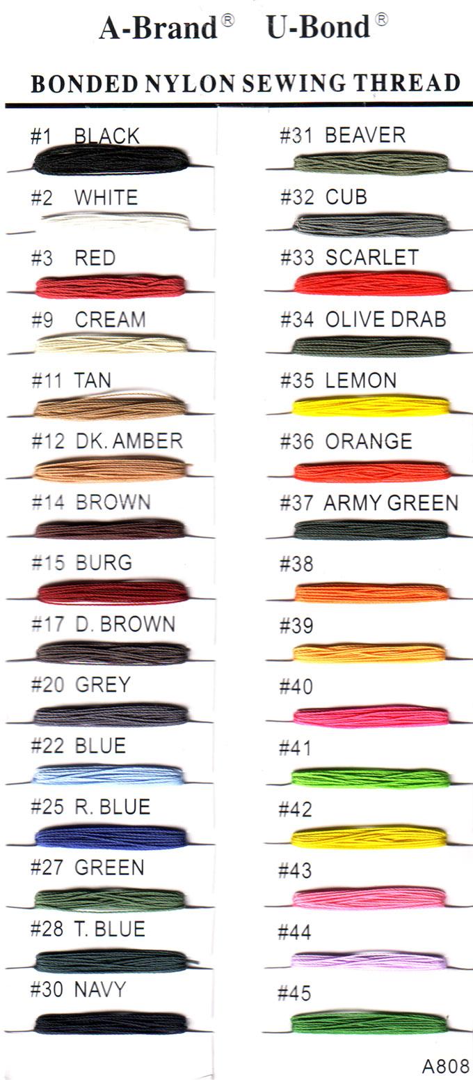 A-Brand Bonded Nylon Thread # B69
