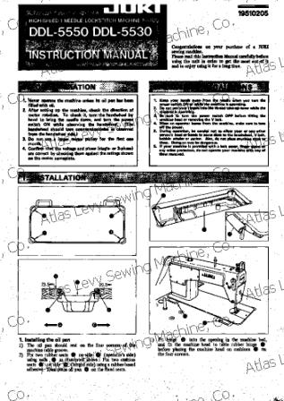 Juki ddl 5550 user's manual.